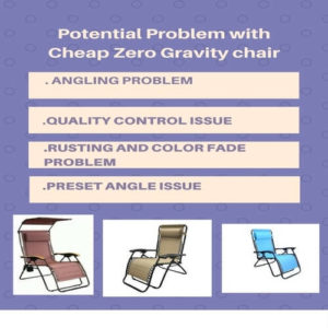 Problem with Cheap zero gravity chair
