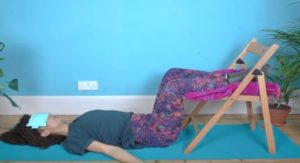 Zero gravity sleeping position