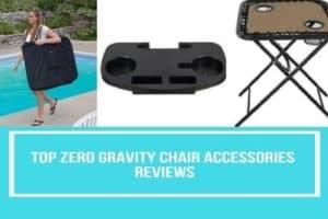 Zero gravity chair accessories