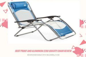 Aluminum zero gravity chair review